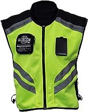 Honeytecs Sports Motorcycle Reflective Vest High Visibility Fluorescent Riding Safety Vest Racing Sleeveless Jacket Moto Gear (XXL)