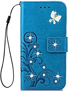 Best ZTE ZMAX Pro Case,ZTE Carry Z981 Cases,Fashion Handmade 3D Bling Diamond PU Leather Stand Flip Case Cover with Card Holder Folio Wallet Case for ZTE ZMAX Pro/Carry Z981 (Blue) Review
