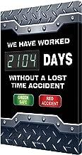 Accuform Digi-Day 3 Electronic Safety Scoreboard,