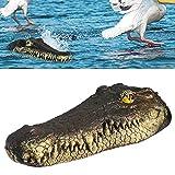 Floating Alligator Head Water Decoy,13 inch Float Alligator Crocodile for Goose,Predator,Heron,Duck Control,Pool,Garden and Patio Accessories