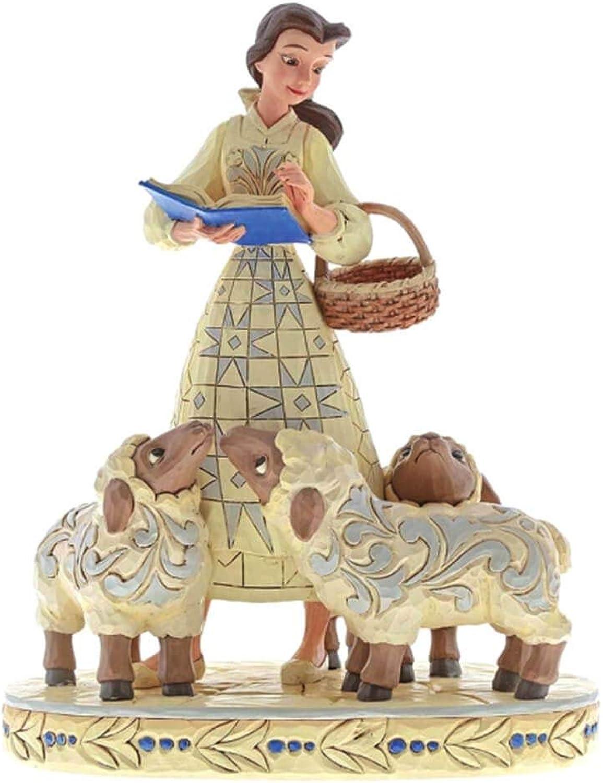 Esperando por ti Disney con Licencia Oficial de Las tradiciones tradiciones tradiciones Bookish Beauty' Belle with Sheep Figurine  edición limitada