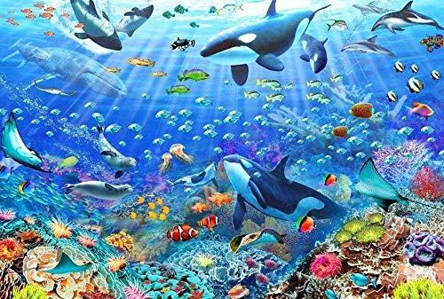 WXLSL Puzzles Rompecabezas Peces De Mar Profundo El Rompecabezas De Madera 1000 Piezas Rompecabezas Adultos Niños Juguetes Educativos Cumpleaños