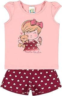 Conjuntos Rosa Chá Bebê Menina Cotton Ref:37507-872