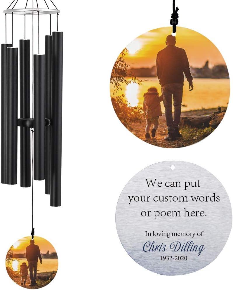 毎日がバーゲンセール Memorial Wind Chimes Outdoor 年末年始大決算 Memory Personalized,in Win Loving