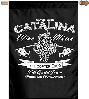 AERYUHPP Catalina Wine Mixer Garden Flag Garden Decor Decorative Flags Holiday Flag