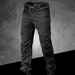 SHYSBV Pantalones Impermeables Trekking Caza Al Aire Libre Caza Pesca Pantalones De Senderismo Hombres Pantalones T/ácticos Impermeables Pantalones-Negro/_S