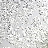 Brewster Rd80027Anaglypta à peindre Grande traditionnel Damas papier peint, 53,3cm par 1005,8cm, Blanc