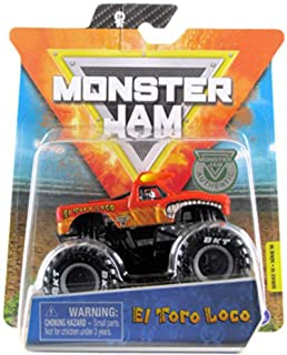 Monster Jam 2020 Spin Master 1:64 Diecast Monster Truck with Wristband: Legacy Trucks El Toro Loco Orange