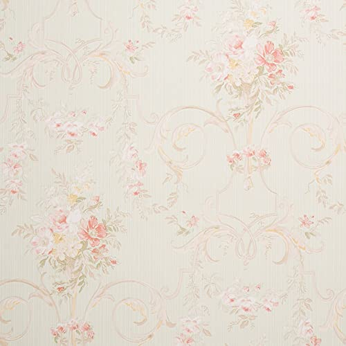 Pink Floral Wallpaper Amazon Com