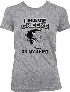 Hoodteez I Have Greece on My Shirt Juniors T-Shirt