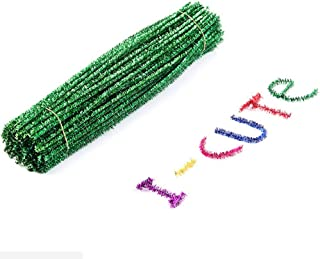 BESTOYARD 100 peças de limpadores de cachimbo de artesanato de 30 cm hastes de chenille, enfeites de Natal, decorações de ...