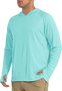 EKLENTSON Men's Shirts-UPF 50+ Sun Protection Athletic Hoodies Performance Long Sleeve Quick Dry for Fishing Runing Outdoo...