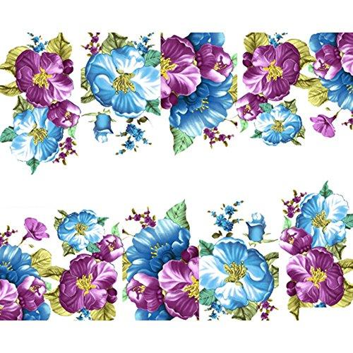Sanwood Belle Fleur Vernis à ongles nail art Stickers transfert d'eau Stickers Décoration
