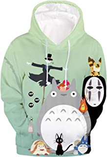 DHSPKN My Neighbor Totoro Hoodie Anime Totoro 3D Sweatshirt Cartoon Pullover Jacket