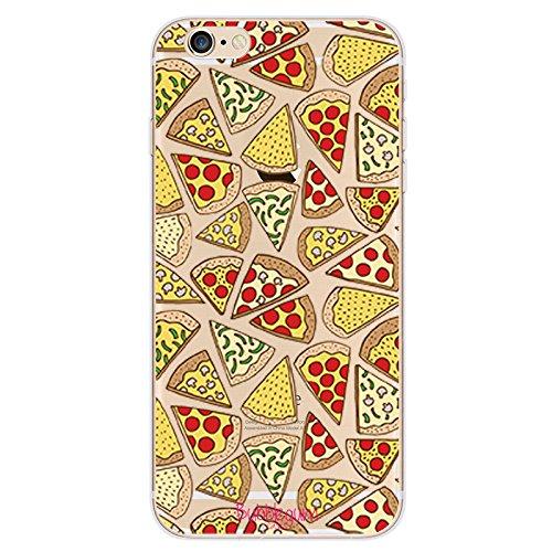 Bubblegum, custodia morbida protettiva artistica in TPU per iPhone, collezione Funny Food, Pizza, iPhone 6 6s