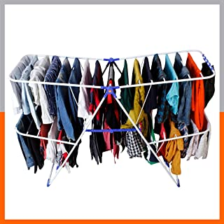 Magna Homewares Super Robusto Heavy Steel Foldable Cloth Drying Stand/Clothes Dryer Stands/Laundry Racks/Cloth drying hang...