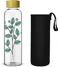 sin BPA 1,2 litros Ornami Jarra de vidrio con tapa de bamb/ú natural