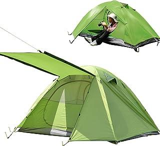Shinyever テント アウトドア キャンプテント 2人/4人用 自立式 二重層 コンパクト 耐水圧3000mm 超軽量 組立簡単