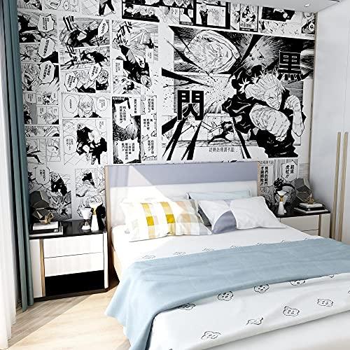 Dibujos Animados Anime Jujutsu Kaisen Papel Tapiz Estudio Dormitorio Cabecera Fondo Pared Revestimiento De Paredes Japonés Manga Papel Tapiz 250(L) x175(H) cm