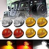 Defender Kit de mise à jour de lumière LED - Taille standard Ambre Indicateur de feu avant latéral arrière pour Defender 90/110 avec clignotant