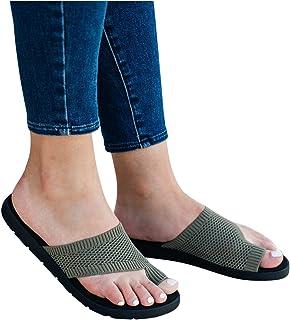 Riou Ciabatte da Donna,Moda Pantofola Punta Aperta,Sandali con Zeppa,Antiscivolo Infradito Estiva,Casual Flip Flop da Mare...