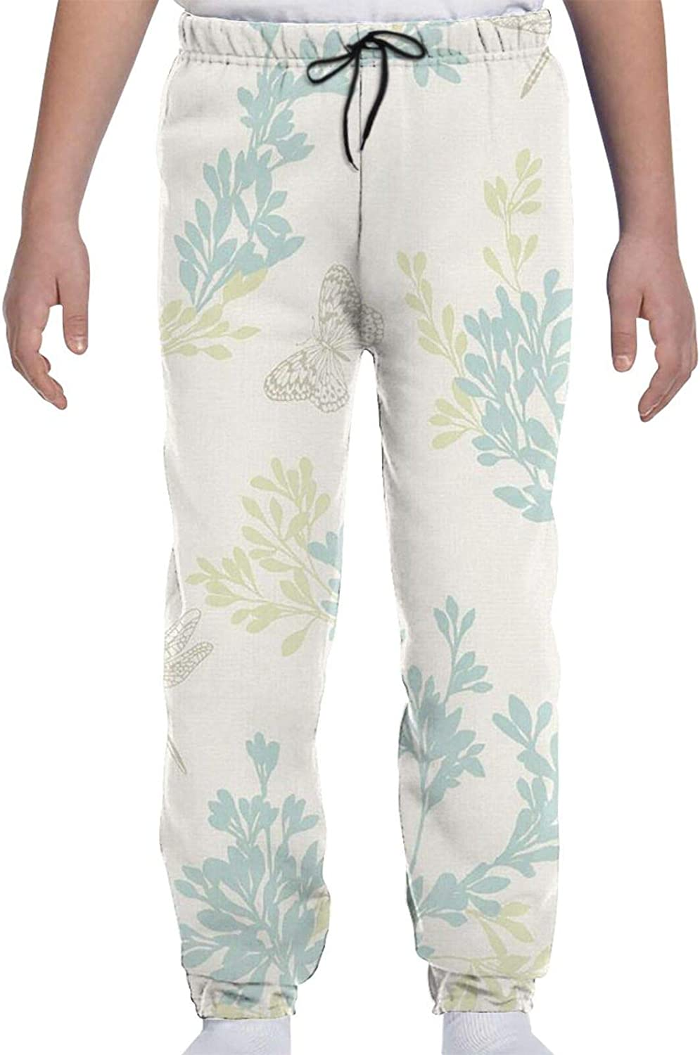 Limited price Lifelike Dragonfly Print Youth Teens online shop 3D Sweatpants Trouser