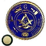 Master Mason Masonic Car Emblem Freemason Blue Lodge Auto Decal