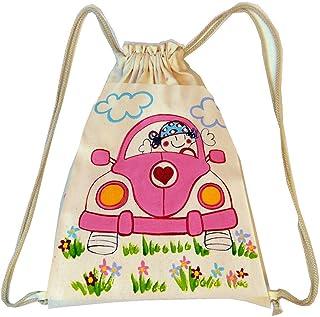 Mochila cuerdas Infantil Personalizada Coche niña