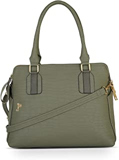 Baggit Spring-Summer 2021 Faux Leather Women's Backpack Handbag (Green) (Harmonize)