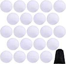 Cooraby 15 Pieces 2.6 Inches Indoor Snowball Fake Snowball Funny Snowball Fight Realistic and Interesting for Winter Game