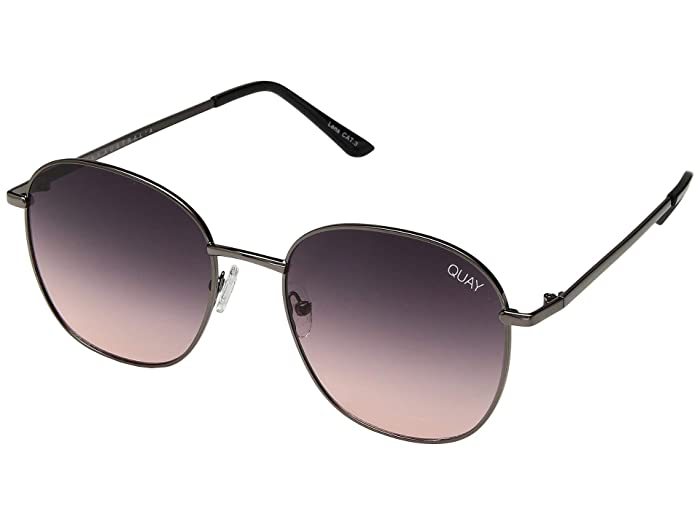 Chrissy X Quay Jezabell (Gunmetal/Navy Peach) Fashion Sunglasses