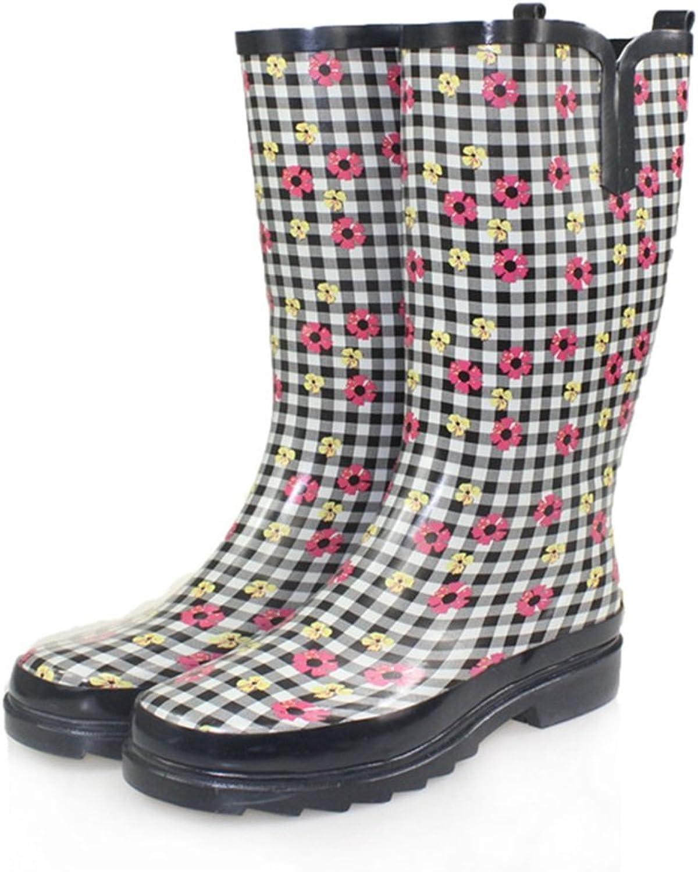 Dfghbn Sommer Regen Stiefel Frauen High Court Wasserdicht Rutschfeste Frauen Rutschfeste Und Tragbare Wasser Schuhe Outdoor Gartenarbeitsschuhe (Gre   40 EU)