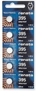 Pile de montre de Renata Renata fait-Swiss 395 ou SR927SW ou AG7 1.5V rapide navire (5 x 395 ou SR927SW)