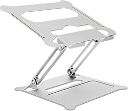 Laptop Stand, Adjustable Riser with Slide-Proof Silicone and Protective Hooks, Ergonomic Aluminum Notebook Holder Compatib...