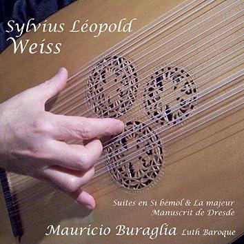 Sylvius Leopold Weiss Suites en si Bemol et la Majeur