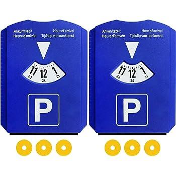 Park Lite PARKLITEBL Disque de stationnement num/érique /électronique avec Homologation Bleu