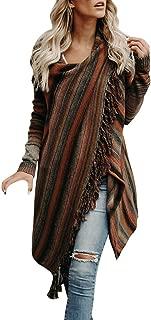 Open Front Cardigan Women Tassel Irregular Coat Knitted Sweater Poncho Shawl Jacket Outwear Cape