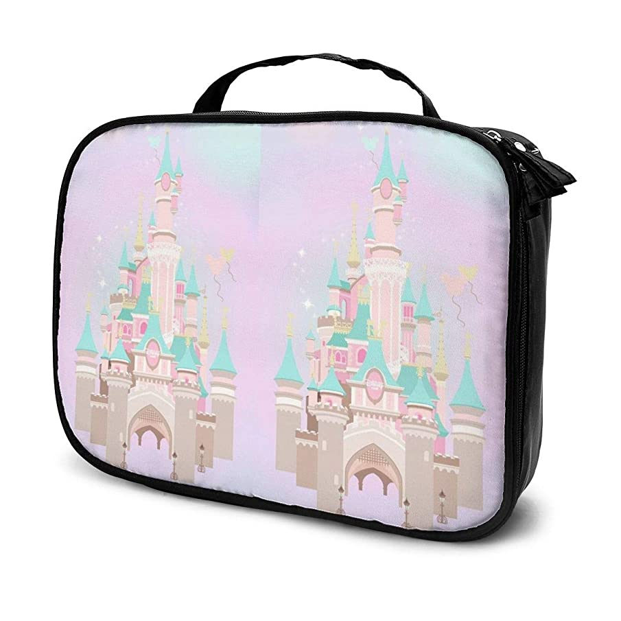 敬意不平を言う反論者Daituファンタジー城 化粧品袋の女性旅行バッグ収納大容量防水アクセサリー旅行
