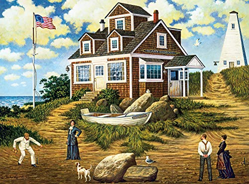 Buffalo Games - Charles Wysocki - A Delightful Day on Sparkhawk Island - 1000 Piece Jigsaw Puzzle