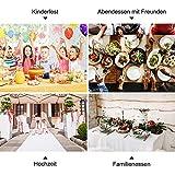 LONGING HOME Tischdeckenrolle, 1.2 × 25M, Rot, Einweg Vlies Stoffähnlich Tischdecke Rolle, Meterware Tischtuchrolle, Geeignet Für Geburtstag, Party, Deko - 6