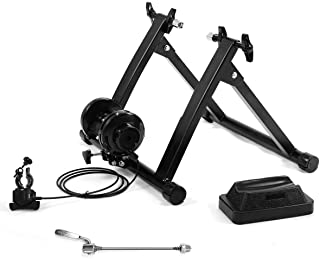Giantex Steel Bike Trainer Stand, Indoor Bicycle Exercise Magnetic Stand w/ 8 Levels of Resistance, Bike Stationary Workou...
