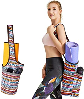 PERFEKT Yoga Mat Bag Carrier with Free Yoga Fitness Band, Large Size Pocket and Zipper Pocket, Gym Bag, Fit Most Size Mats...