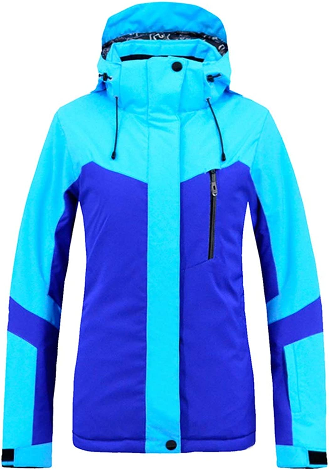 CTARCROW High Windproof Women's Ski Jacket Waterproof Technology Snow Jacket (color   bluee, Size   S)