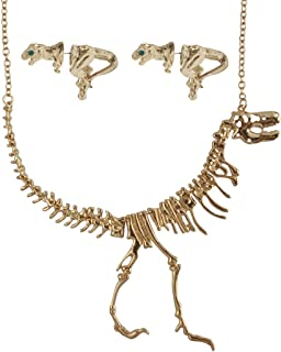 Jane Stone Dinosaur Vintage Necklace Short Collar Fashion Costume Jewelry for Women Teens