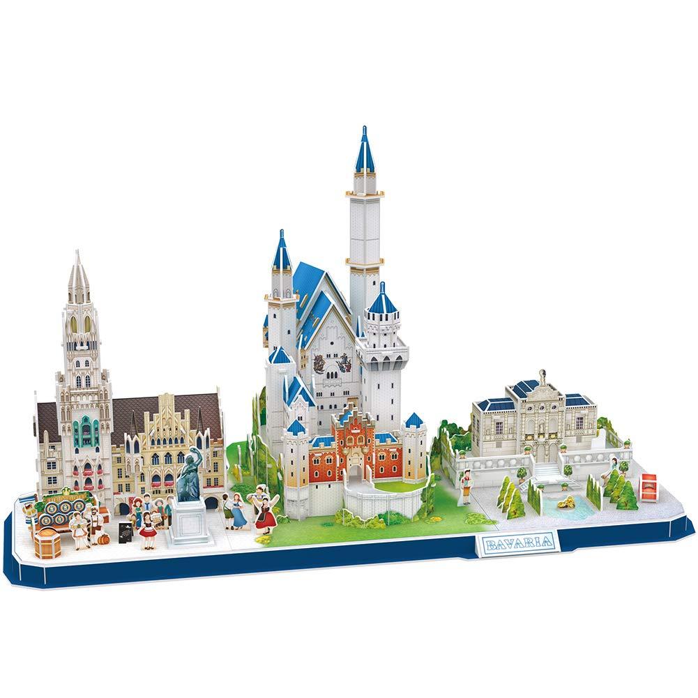 CubicFun Puzzle 3D Kits de construcción de Arquitectura de CityLine de Juguetes Regalo para niños y Adultos (Bavaria CityLine): Amazon.es: Juguetes y juegos