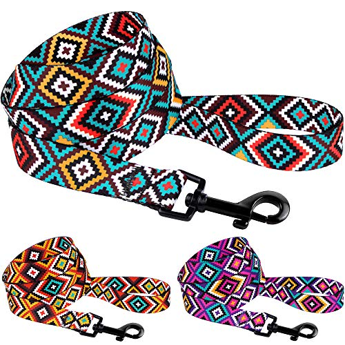 CollarDirect Hundeleine mit Azteken-Muster, Nylon, Tribal-Muster, für kleine und mittelgroße Hunde, 152 cm lang, L