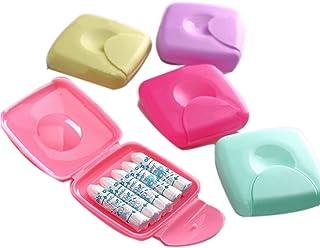 Caja de almacenamiento portátil para mujer con tampones para el aire libre (color al azar)