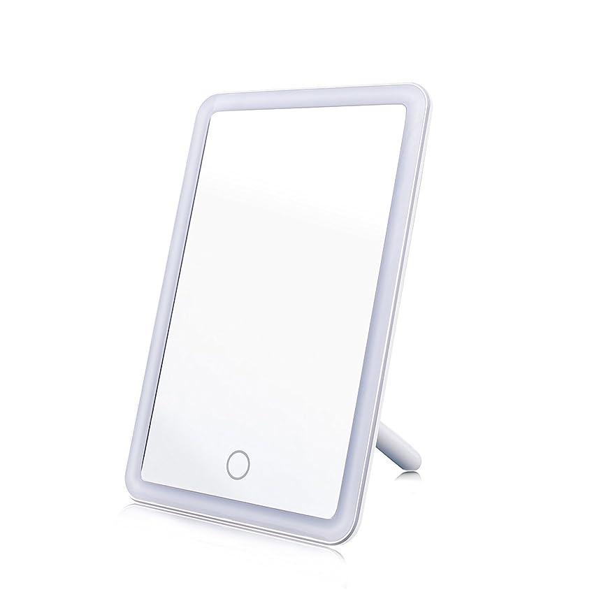 怠惰滴下色合い化粧鏡 女優ミラー MAVIE 鏡 LEDライト付き タッチスクリーン 明るさ調節可 USB給電 角度180度調節可能 卓上スタンドミラー プレゼント 寝室 テーブルで置ける