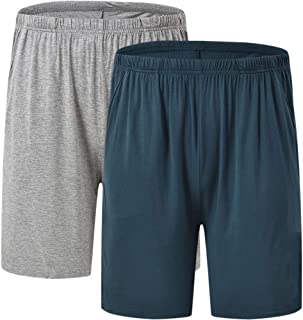 JINSHI Men's Pyjama Shorts Nightwear Super Soft Lounge Wear PJ Bottoms