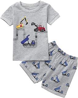 88078c439 QinMM Camiseta de Dibujos Animados Tops+ Pantalones de bebé Niño y Niña,  Conjunto de Camisa